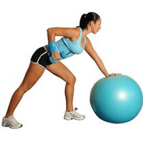 One-Arm Dumbbell Rows With Ball