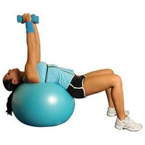 Dumbbell Chest Flys On Ball