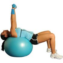 Dumbbell Chest Press On Ball