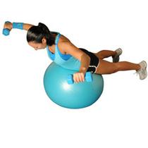 Dumbbell Reverse Flys Lying On Ball