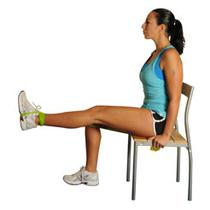 Seated Leg Extensions With Band