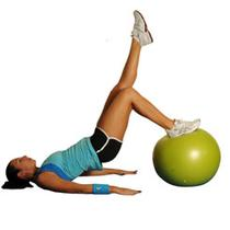 Single Leg Hamstring Flexion With Ball