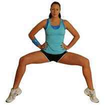 Wide Leg Wall Sit With Calf Raises