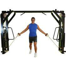 Lunges With Cable Cross Machine