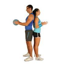 Twisting Medicine Ball Pass With Partner